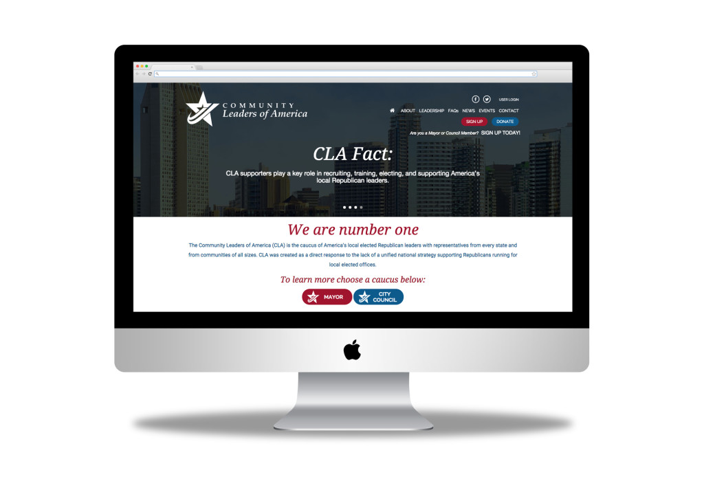 community leaders of america website design austin texas