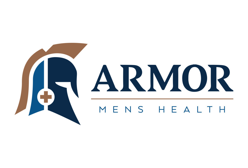 armor mens health austin logo design