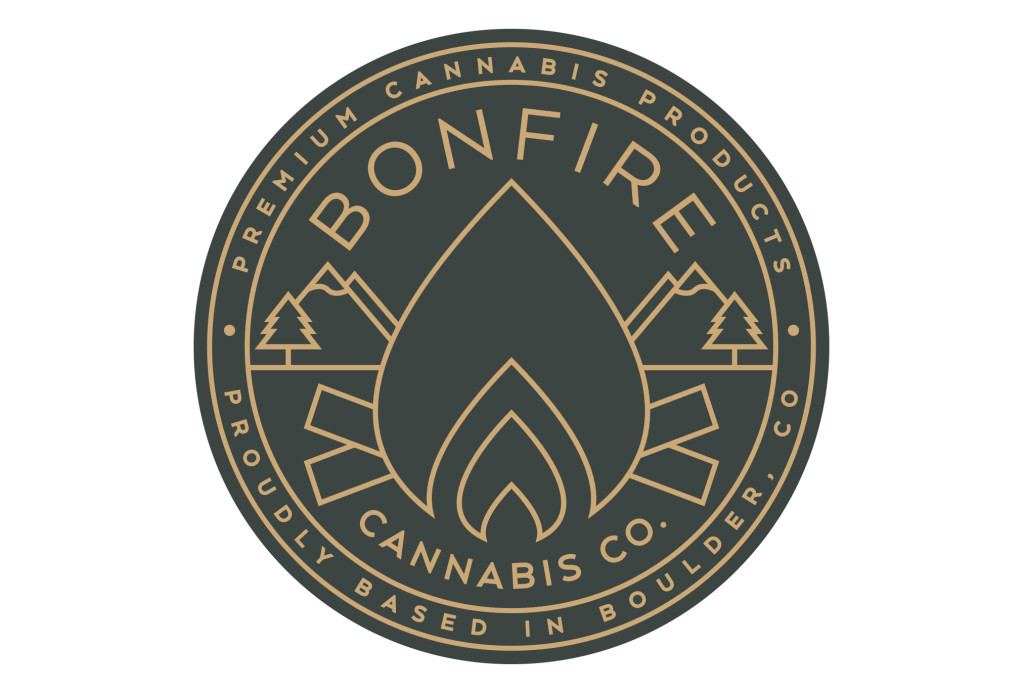 bonfire cannabis company marijuana dispensary logo design