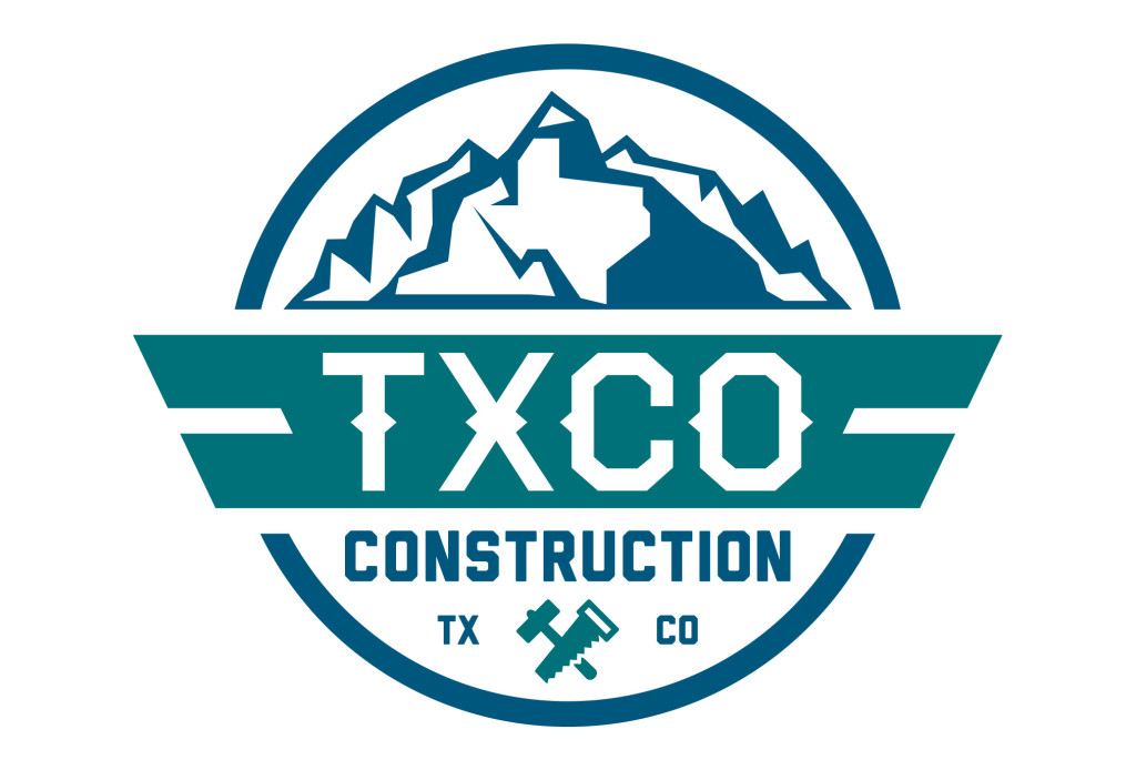 txco construction texas logo design
