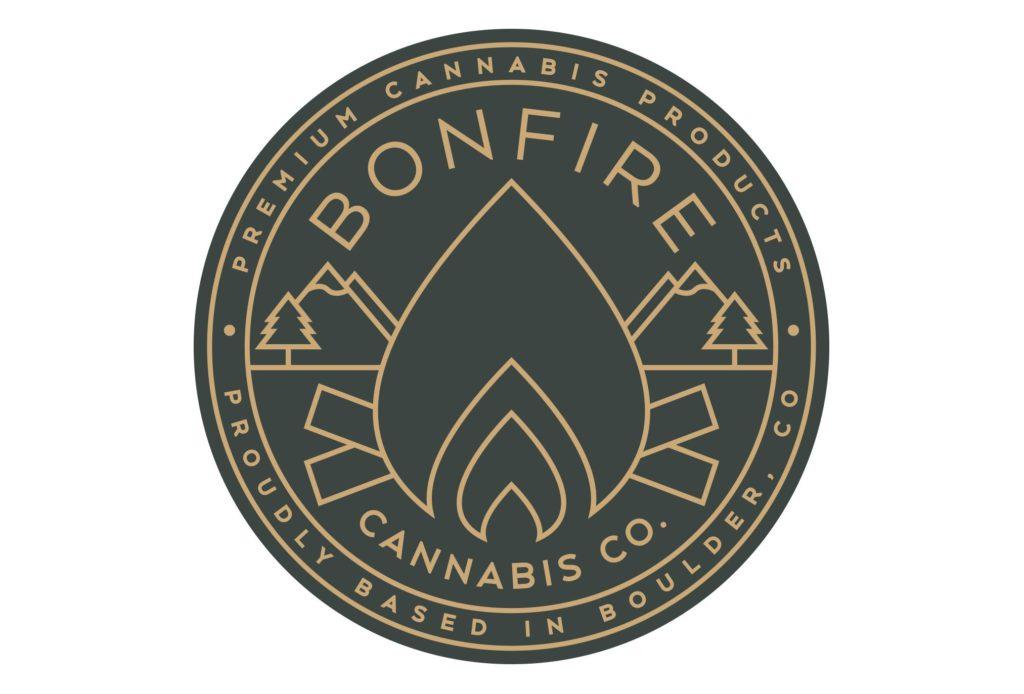 bonfire cannabis logo design by left hand design in austin texas