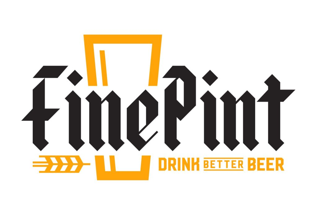 fine pint beer logo design by left hand design in austin texas