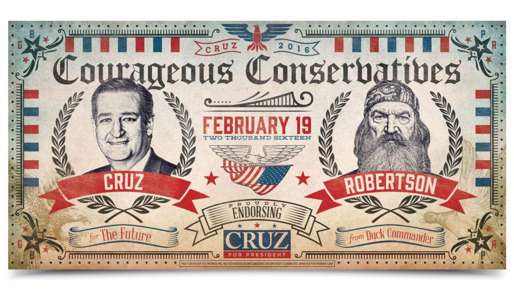 ted cruz phil robertson poster design by left hand design