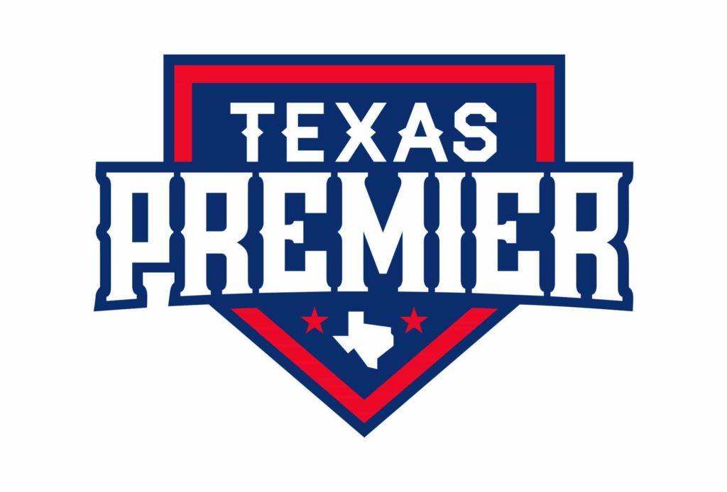 texas premier baseball logo design by left hand design in austin texas